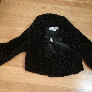 Crooped  Fox Fur Evening Jacket